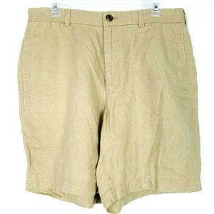 BROOKS BROTHERS 346 100% Linen Casual Flat Shorts